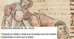 Enlace a Medicina medieval: explica en clave de humor el significado médico de pinturas medievales, por @txapulincolorid