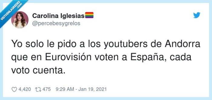 andorra,españa,eurovisión,votar,youtubers