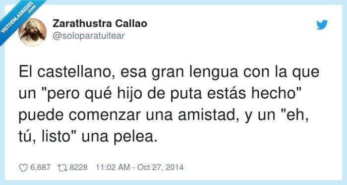 amistad,castellano,comenzar,lengua,pelea
