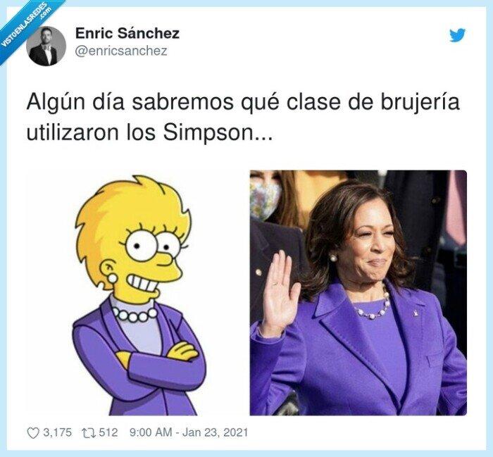 brujería,eeuu,kamala harris,lisa simpson,simpson,usa