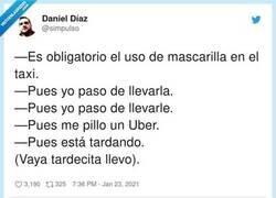 Enlace a Un taxista comparte la conversación que ha tenido con un cliente descerebrado y indigna a todo el mundo, por @simpulso