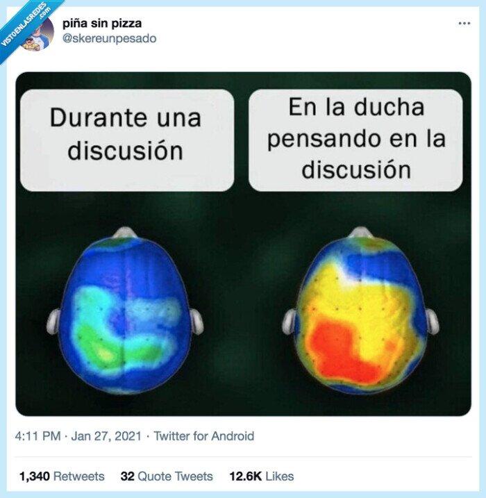 cerebro,discusión,ducha,pensar