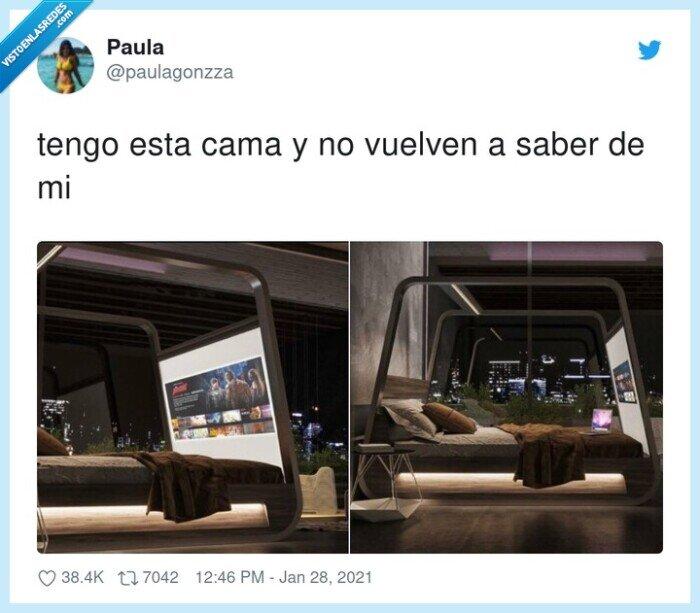 cama,netflix,pantalla,tv