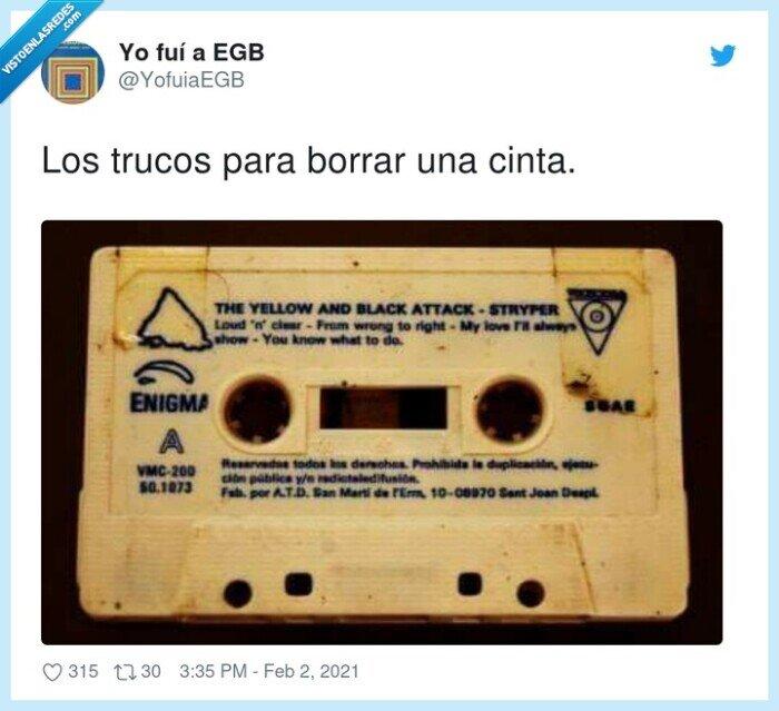 borrar,cassette,cinta,trucos