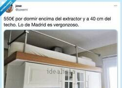 Enlace a Ojo a esta caja de cerillas en alquiler en Madrid por 550, puedes cocinar mientras duermes, por @ozeemi