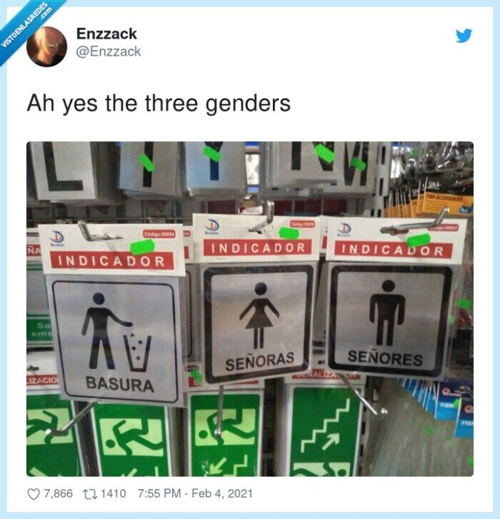 basura,géneros,señoras,señores