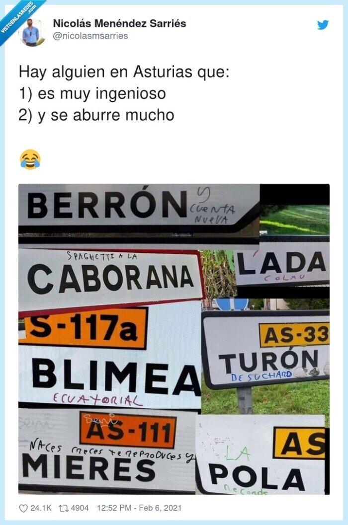 asturias,carteles,ingenioso