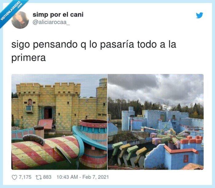 castillo,humor amarillo,pruebas