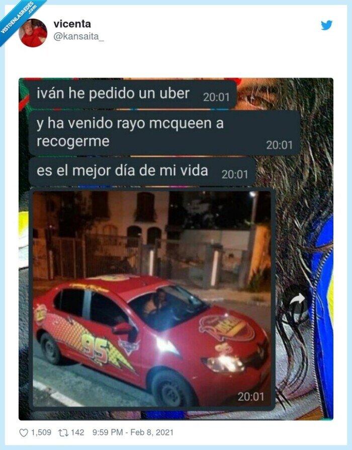 coche,conductor,rayo mc queen,uber