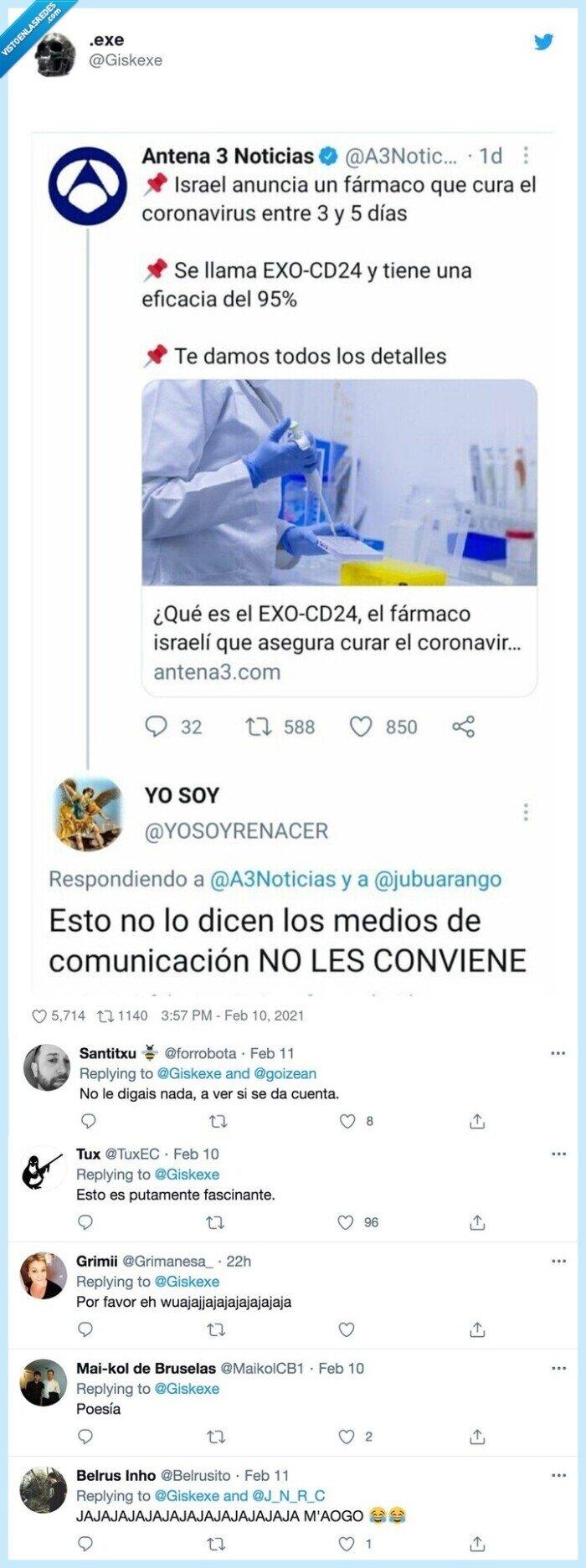 antena3,medios de comunicación,respuesta,vacuna