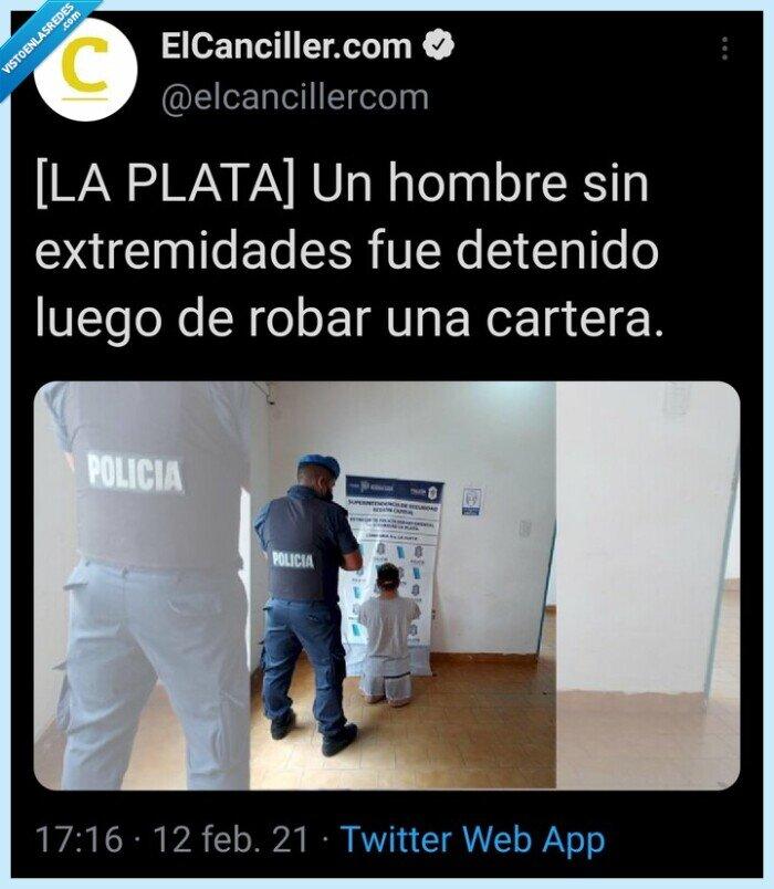 argentina,manco,policía,Robo