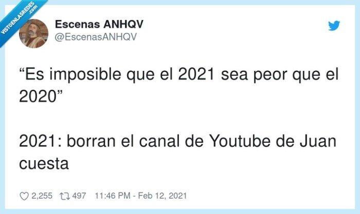 2020,borrar,canal,juan cuesta,youtube