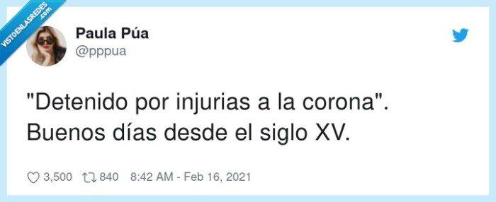 corona,detenido,hasel,injurias
