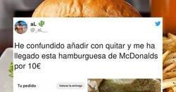 Enlace a Se lía al configurar una hamburguesa y lo que recibe tiene una mala pinta increible, por @_aL__