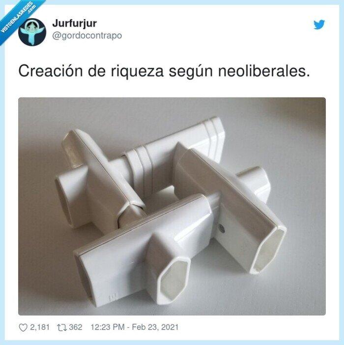 creación,neoliberales,riqueza