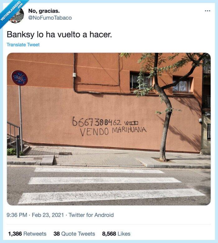 banksy,pared,pintada