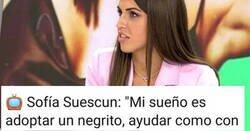 Enlace a Tremenda liada de Sofia Cuescun que no sabemos si es más racista que corta, o al revés, por @Supertramp9713