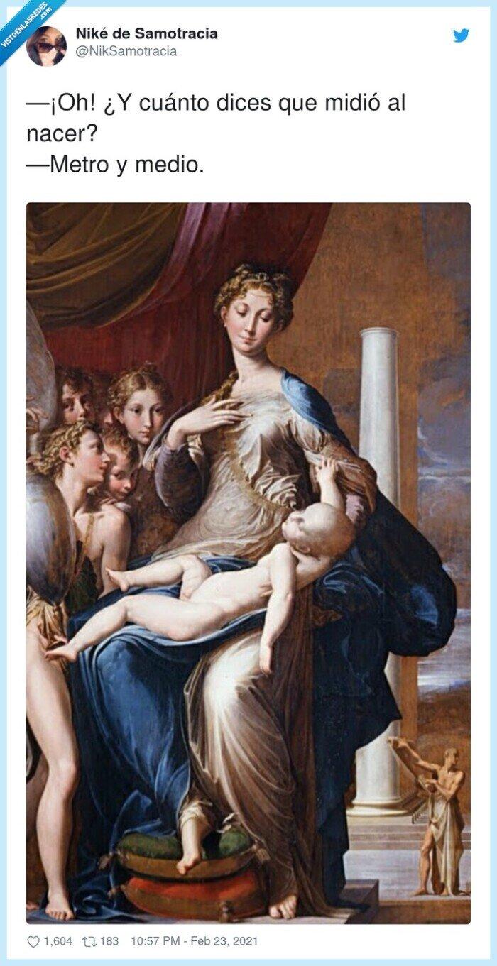 enorme,gigante,niño,pintura,recién nacido