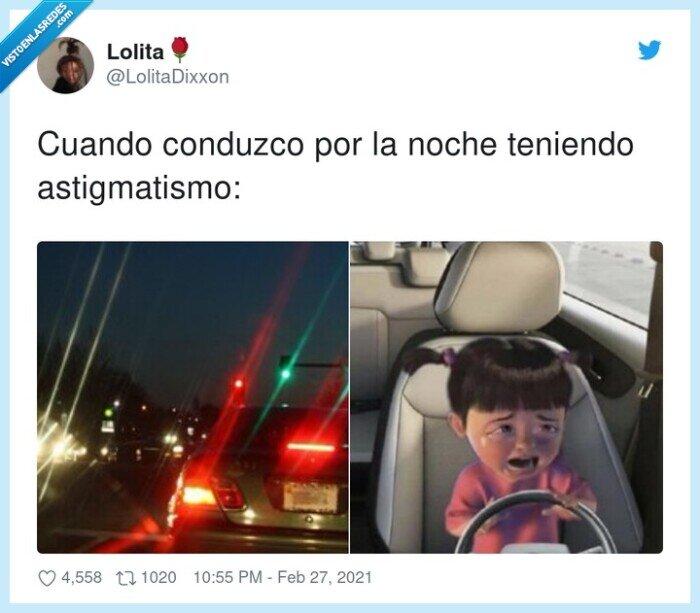 astigmatismo,conducir,de noche