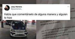 Enlace a Aparca de culo ocupando 4 plazas de parking y la nota que le pone es ex catedra  , por @josuherrero_