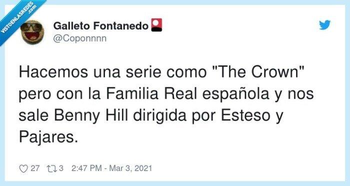 benny hill,española,esteso,familia real,pajares,serie