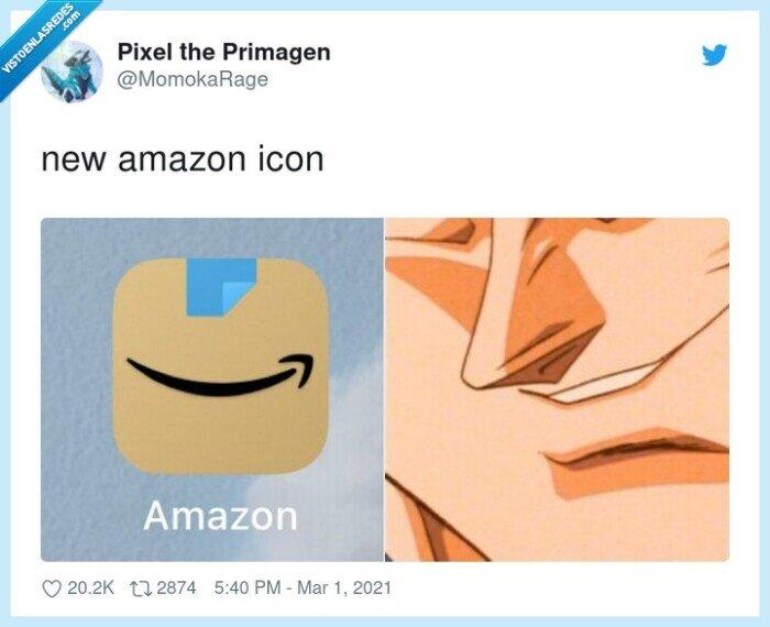 amazon,icono,sonrisa,vegeta