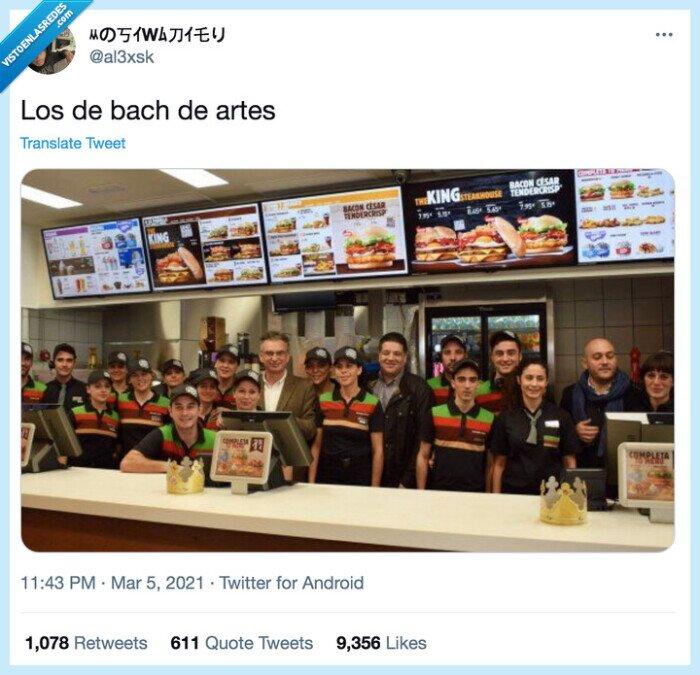 artes,bachillerato,burger king,mcdonalds