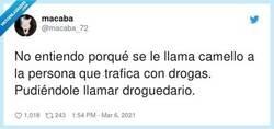 Enlace a El droguedario, por @macaba_72