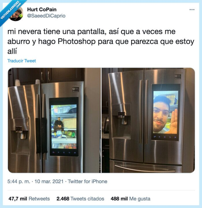 montaje,nevera,pantalla,photoshop