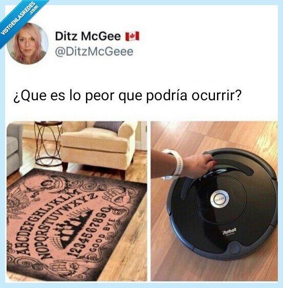 alfombra,hablar,ouija,paranormal,Roomba