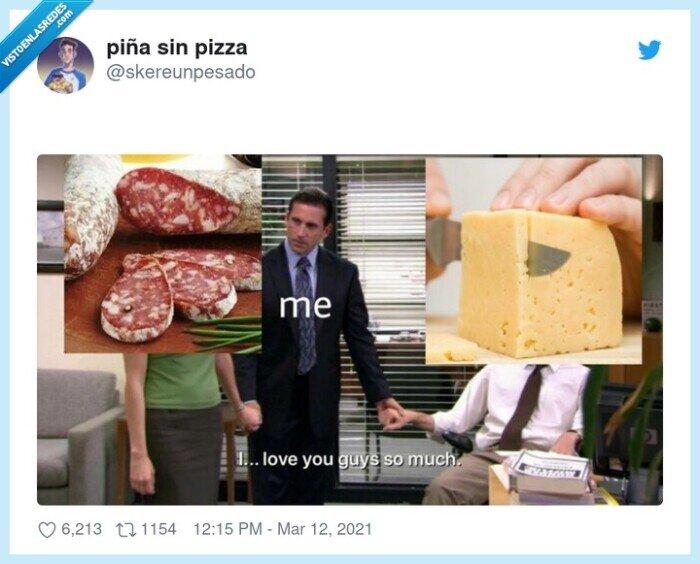 comida,fuet,querer,queso,unión