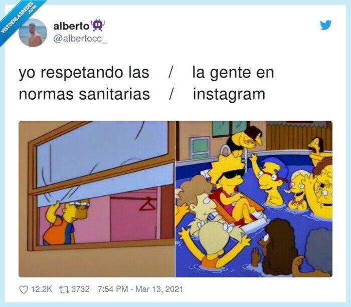 instagram,normas sanitarias,respetar