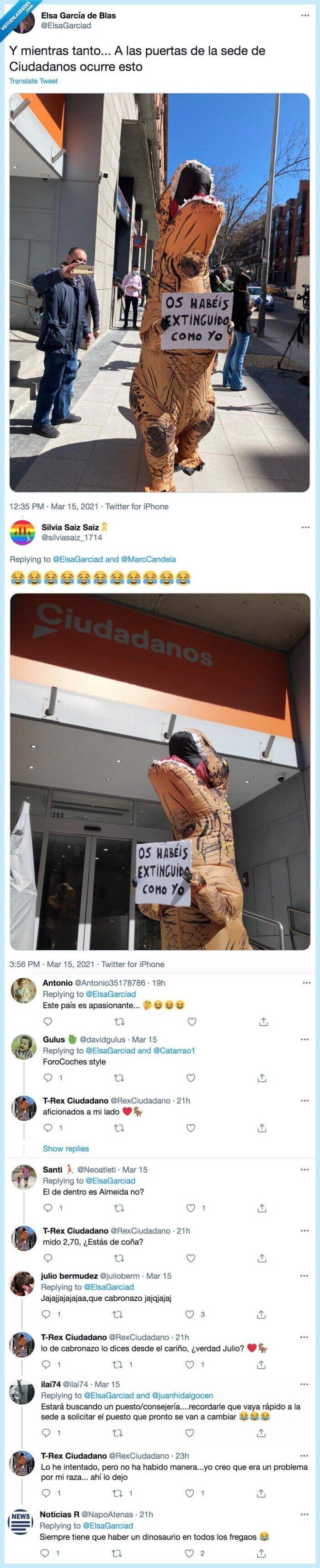 ciudadanos,dinosaurios,extinción
