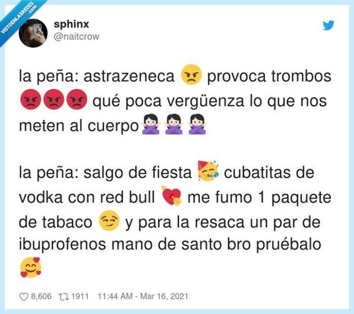 astrazeneca,coronavirus,cuerpo,ibuprofenos,vacuna,vergüenza