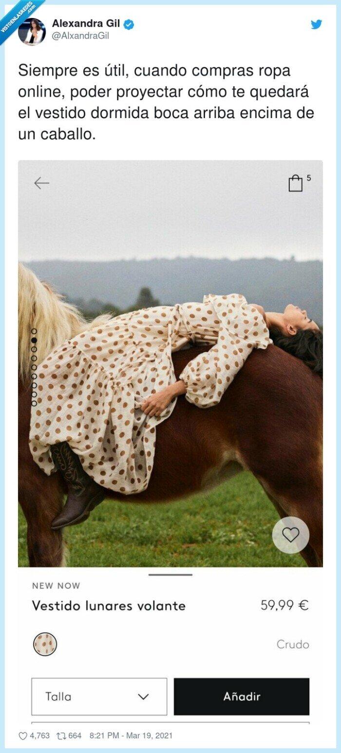 caballo,compras,online,proyectar,ropa,vestido