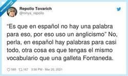 Enlace a También se puede tener vocabulario en los dos idiomas, por @ninya_repolIo