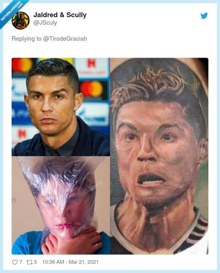 bolsa,cristiano ronaldo,derp,tatuaje