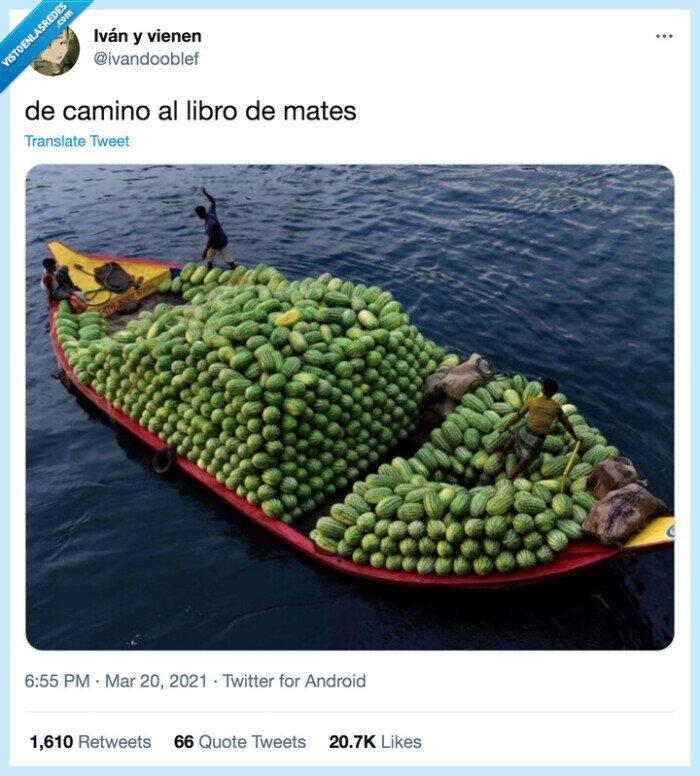 barca,camino,libro,mates,melones