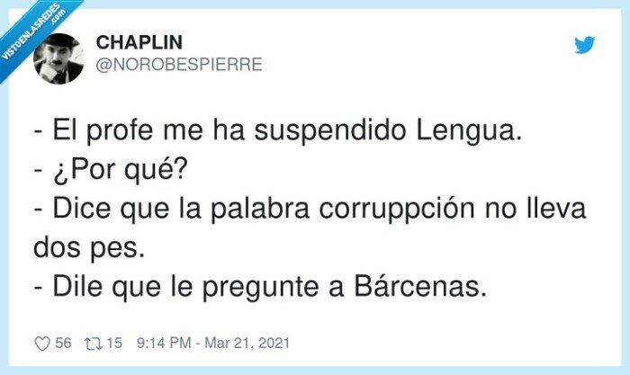 bárcenas,corrupción,corruppción,lengua,palabra,pp,suspendido