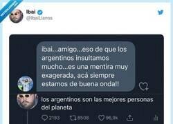 Enlace a Un argentino le dice a Ibai que ellos no insultan, pero Ibai lo tira por el suelo con ejemplos, por @IbaiLlanos