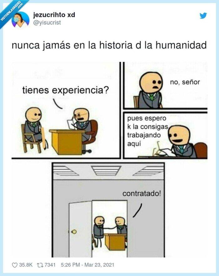 experiencia,historia,humanidad,jamás,trabajo