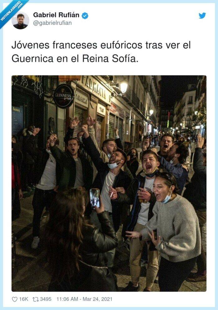 eufóricos,franceses,guernica,jóvenes,reina sofía