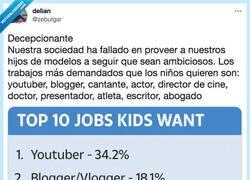 Enlace a Para mear y no echar gota: El top 10 de los empleos que quieren los niños cuando sean mayores, por @zebulgar
