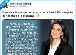 Enlace a Laura Pausini puede que sea de las personas más dignas del panorama musical por cosas como ésta, por @andreincolombia