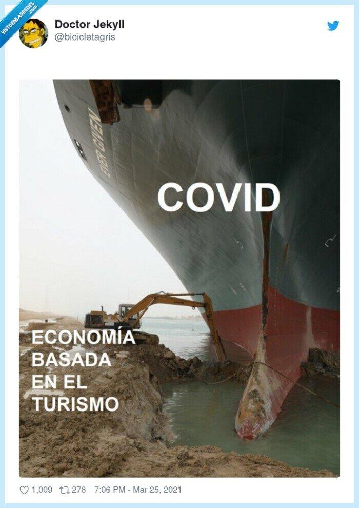 barco,coronavirus,economía,grua,meme,turismo