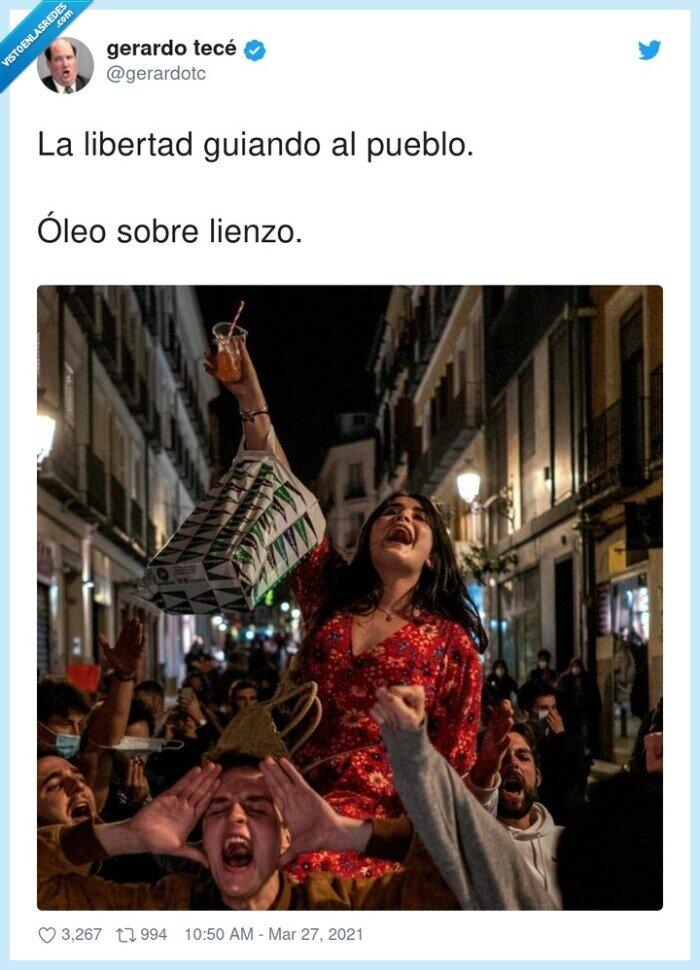 borrachos,guiando,guiris,libertad,madrid,óleo sobre lienzo,pueblo,turistas