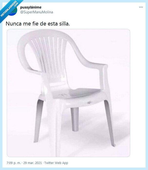 fiarse,nunca,silla