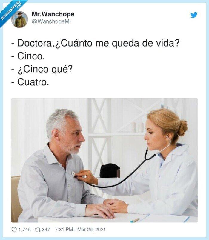 cinco,cuánto,cuatro,doctora,quedar,vida