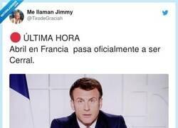 Enlace a Francia = cerral, por @TirodeGraciah