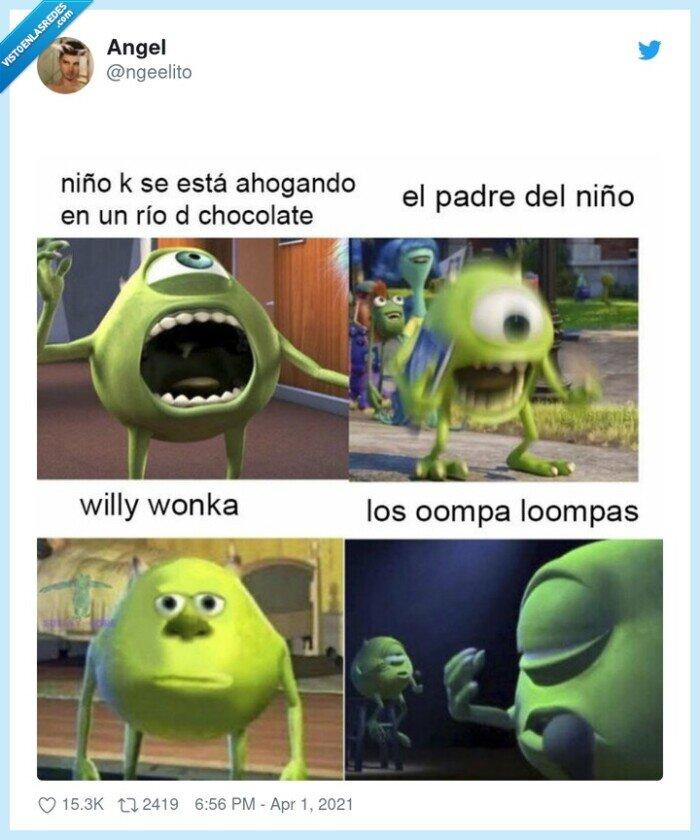 chocolate,niño,willy wonka